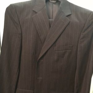 Jos A. Banks Mens Grey w/White Stripes Signature
